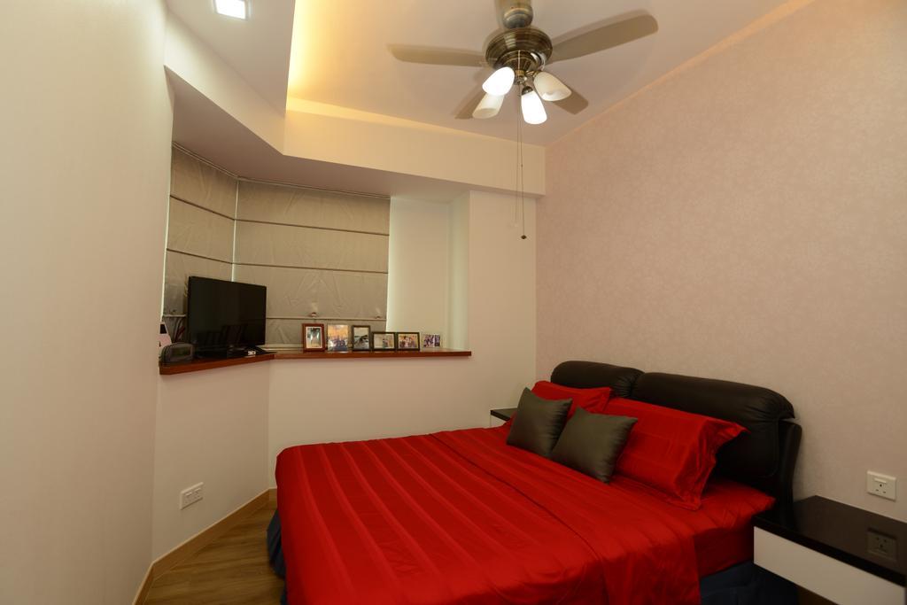 Modern, Condo, Bedroom, The Maderia, Interior Designer, U-Home Interior Design, Light Fixture, Indoors, Interior Design, Room