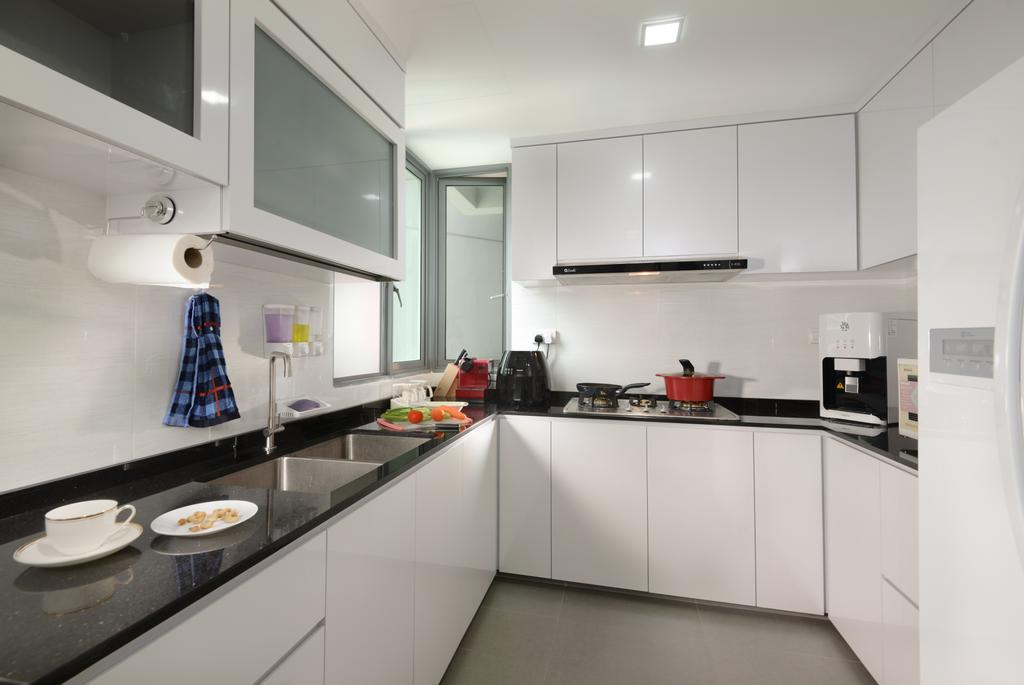 Modern, Condo, Kitchen, The Maderia, Interior Designer, U-Home Interior Design, Indoors, Interior Design, Room, Bathroom, HDB, Building, Housing, Loft