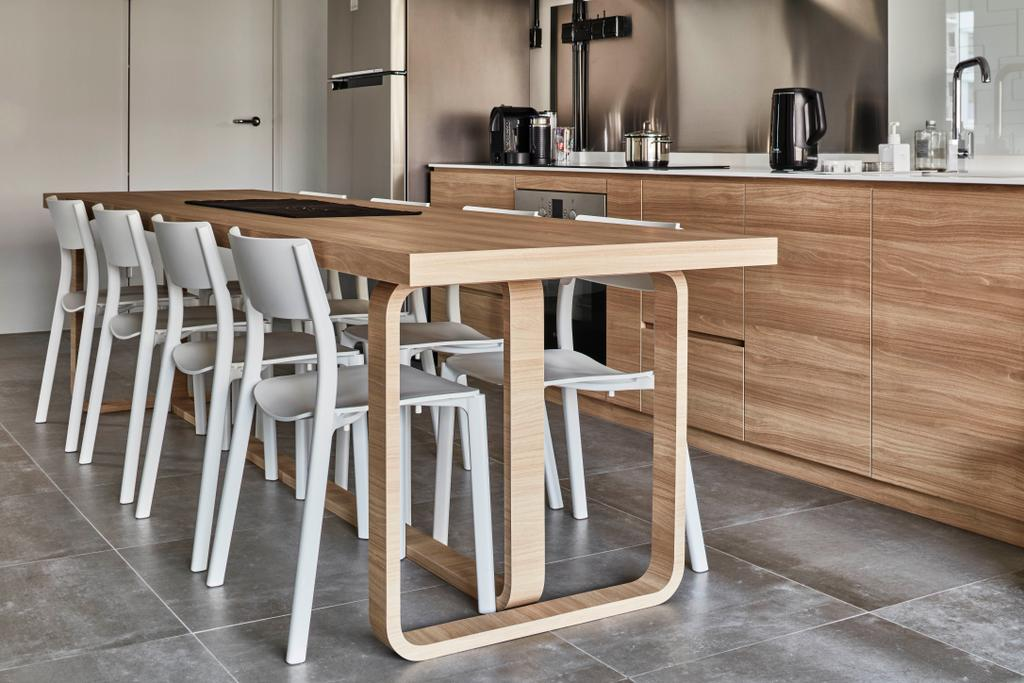Industrial, HDB, Dining Room, Sembawang Close, Interior Designer, Voila, Dining Table, Furniture, Table, Chair