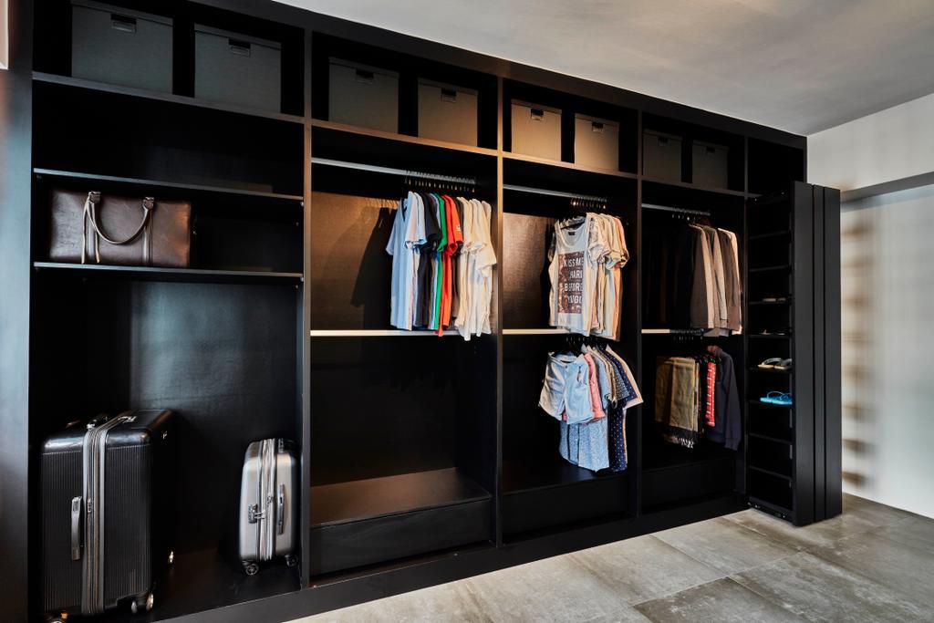 Industrial, HDB, Bedroom, Sembawang Close, Interior Designer, Voila, Shelf