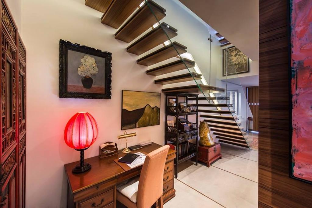 Modern, Landed, Chiselhurst Grove, Interior Designer, akiHAUS, Banister, Handrail, Staircase, HDB, Building, Housing, Indoors, Loft, Sink