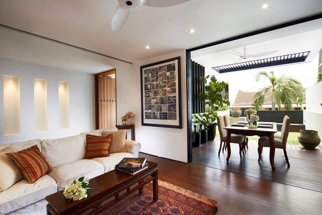 Modern, Landed, Living Room, Chiselhurst Grove, Interior Designer, akiHAUS, Dining Table, Furniture, Table, Indoors, Room