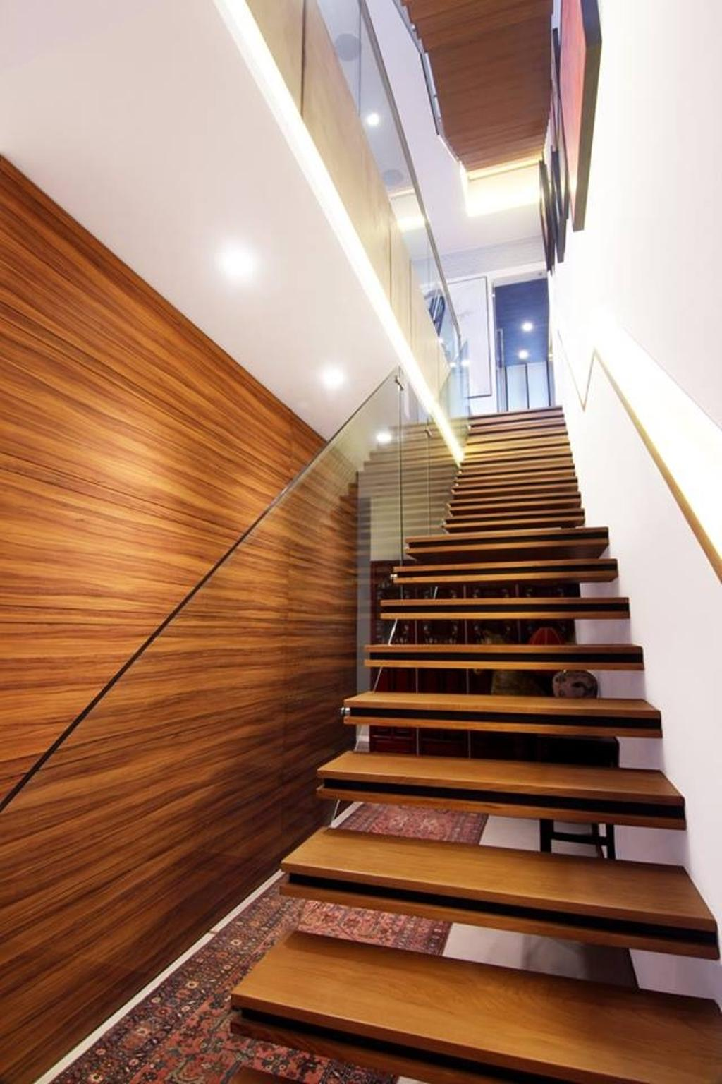 Modern, Landed, Chiselhurst Grove, Interior Designer, akiHAUS, Banister, Handrail, Staircase