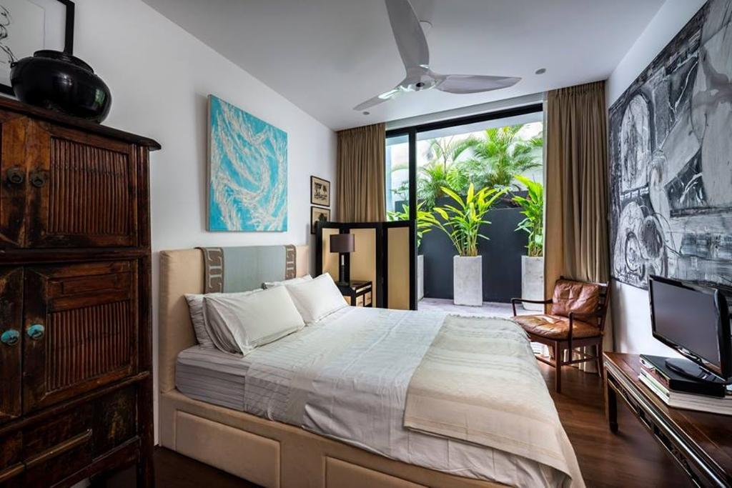 Modern, Landed, Bedroom, Chiselhurst Grove, Interior Designer, akiHAUS, Couch, Furniture, Indoors, Interior Design, Room, HDB, Building, Housing