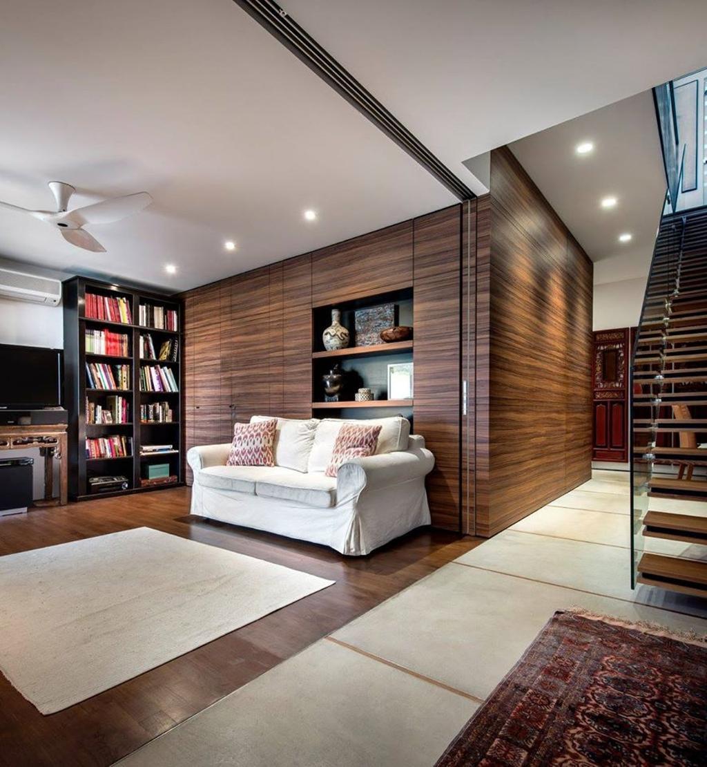 Modern, Landed, Living Room, Chiselhurst Grove, Interior Designer, akiHAUS, Bookcase, Furniture