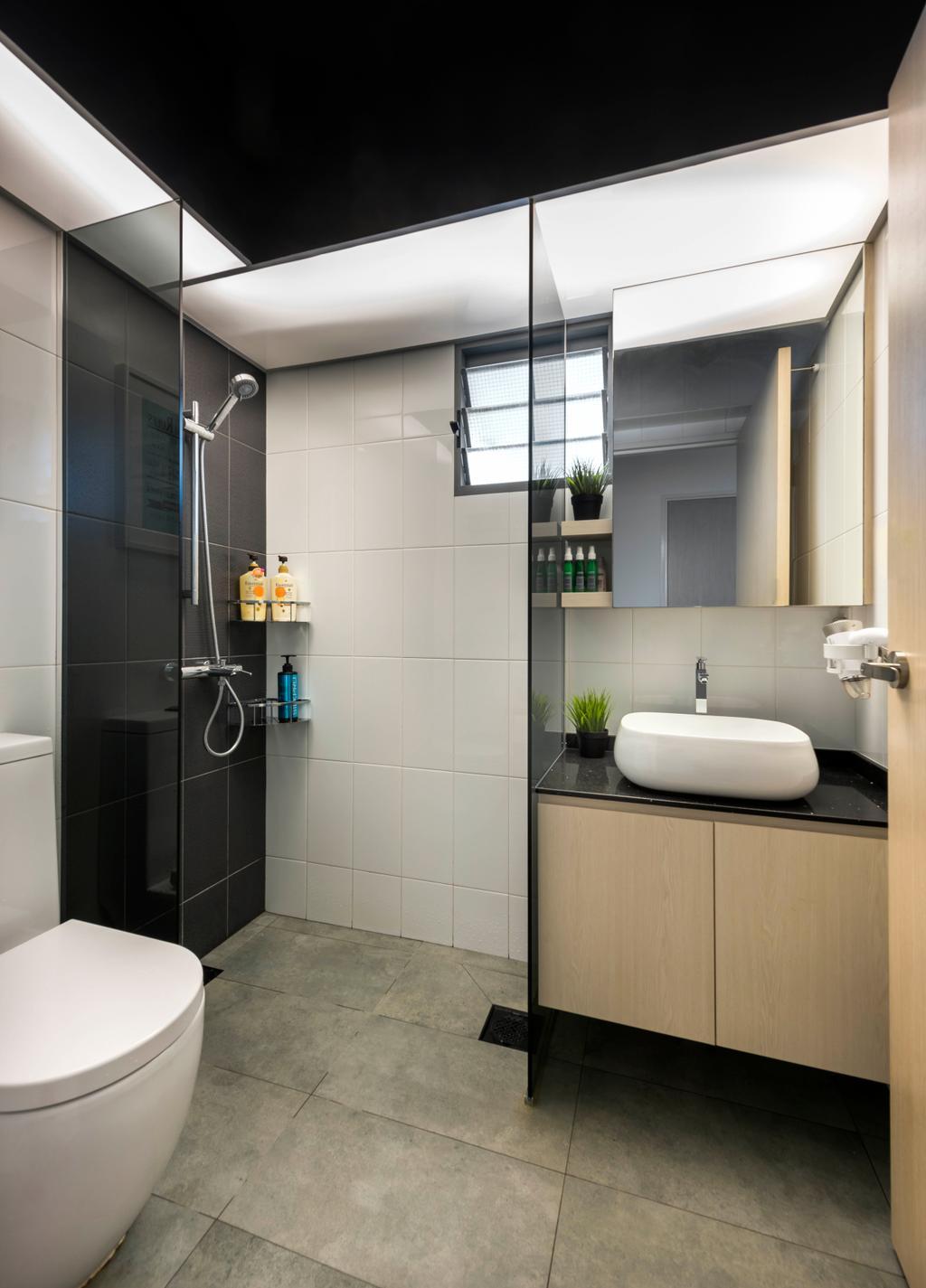 Minimalistic, HDB, Bathroom, Punggol Way, Interior Designer, D5 Studio Image, Scandinavian, Indoors, Interior Design, Room