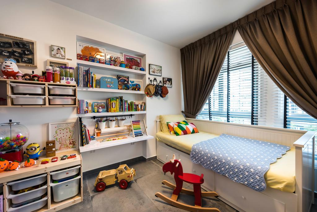 Minimalistic, HDB, Bedroom, Punggol Way, Interior Designer, D5 Studio Image, Scandinavian