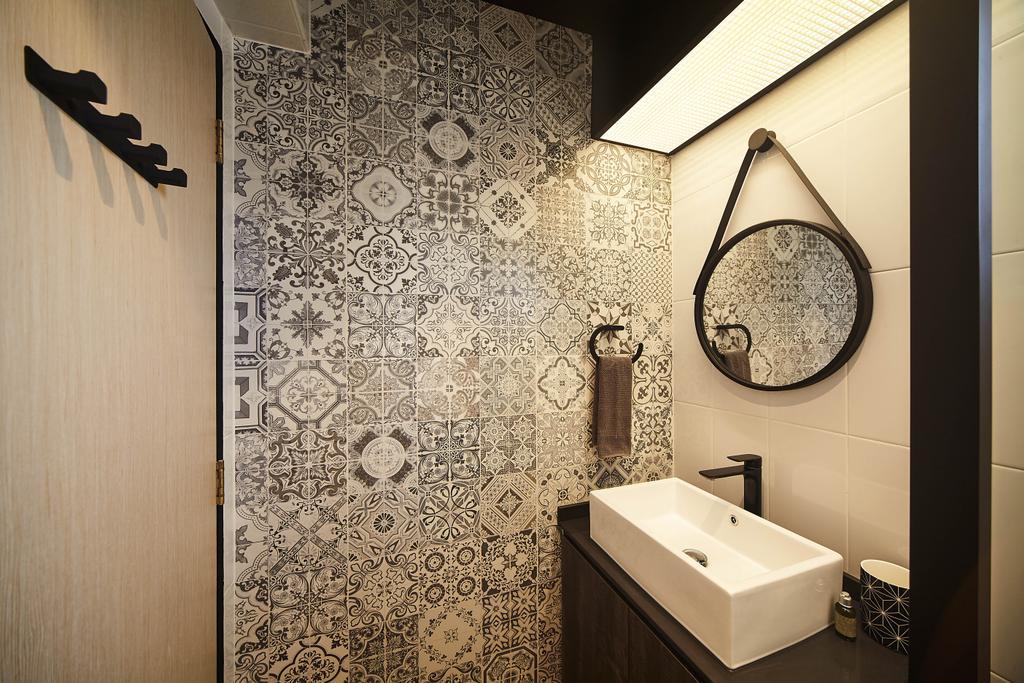 Contemporary, HDB, Bathroom, Sumang Walk, Interior Designer, D5 Studio Image, Indoors, Interior Design, Room