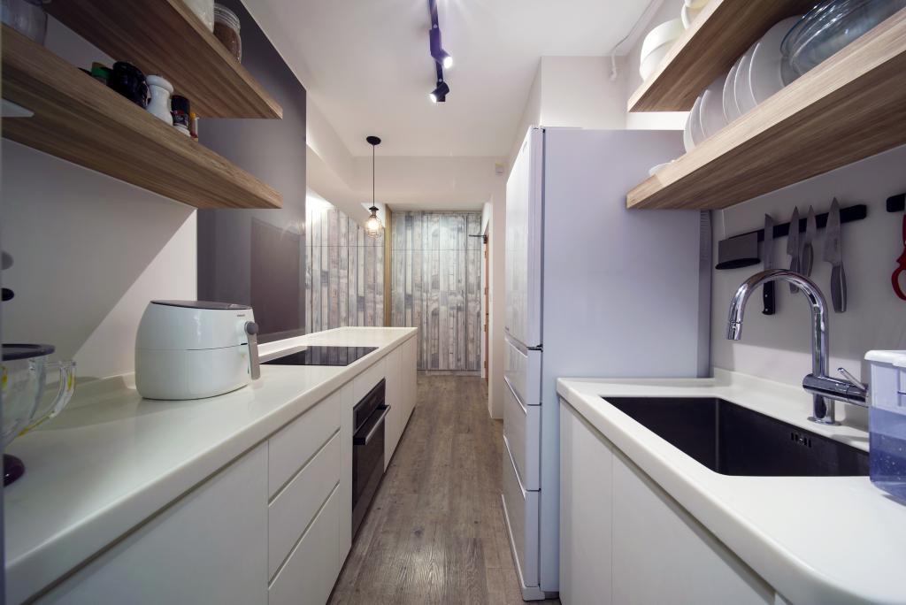 Modern, HDB, Kitchen, Bendemeer Road, Interior Designer, Dyel Design