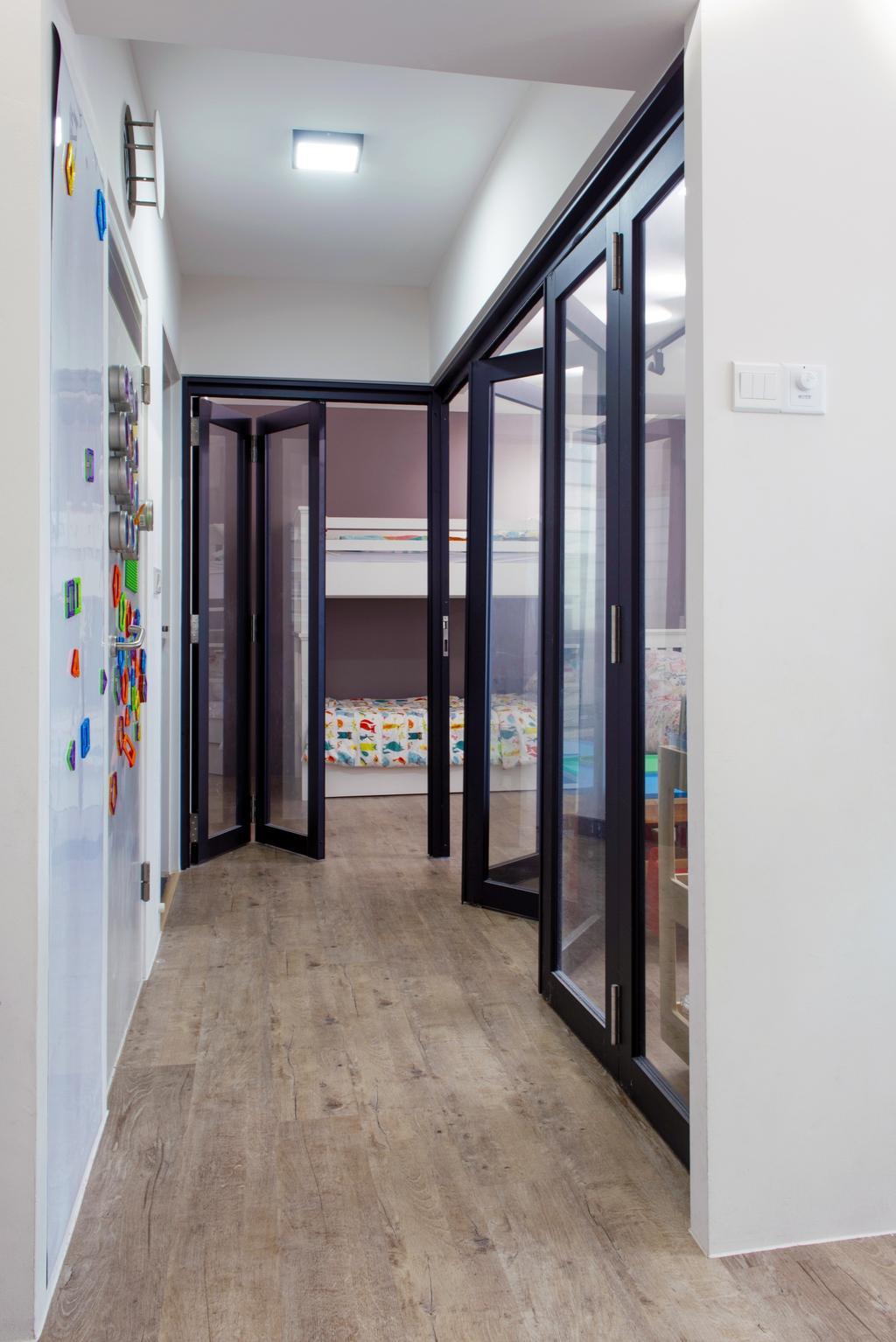 Modern, HDB, Bedroom, Bendemeer Road, Interior Designer, Dyel Design, Door, Folding Door