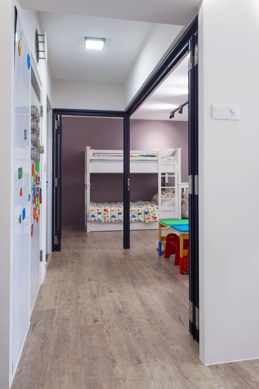 Modern, HDB, Bedroom, Bendemeer Road, Interior Designer, Dyel Design, Building, Hostel, Housing, Door, Sliding Door