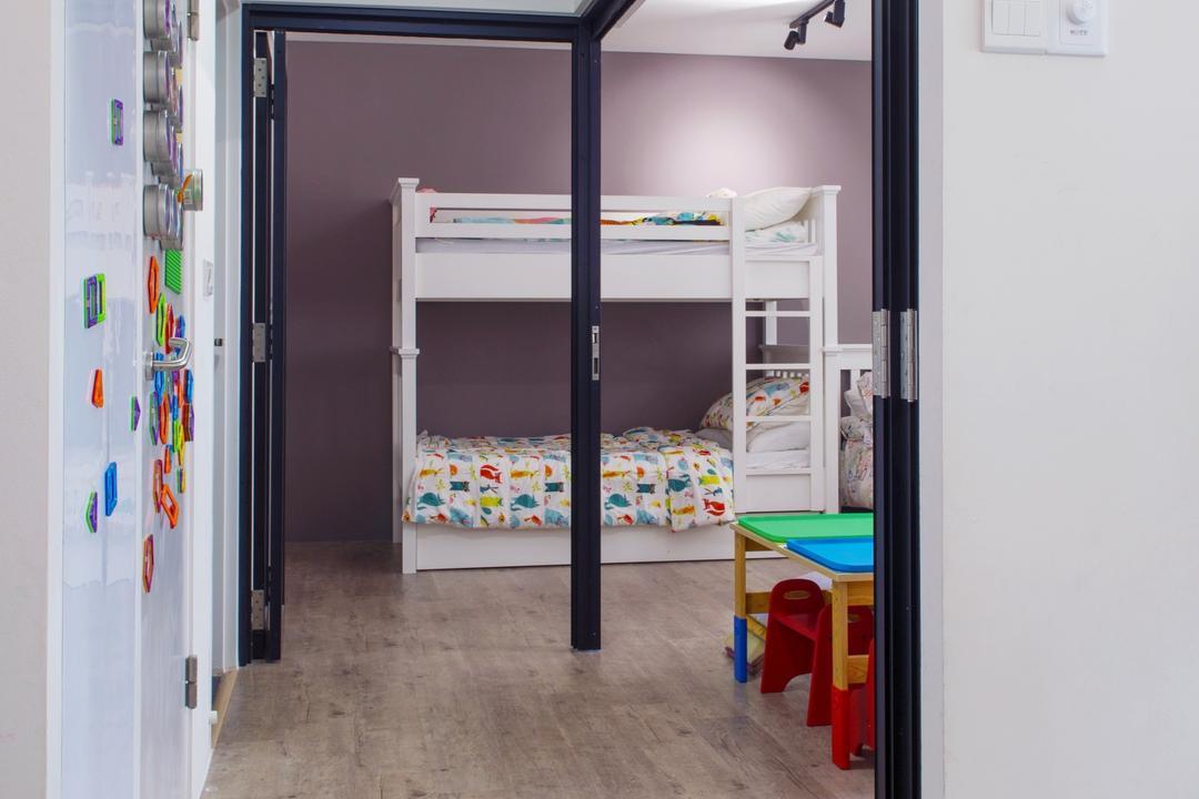 Bendemeer Road, Dyel Design, Modern, Bedroom, HDB, Building, Hostel, Housing, Door, Sliding Door