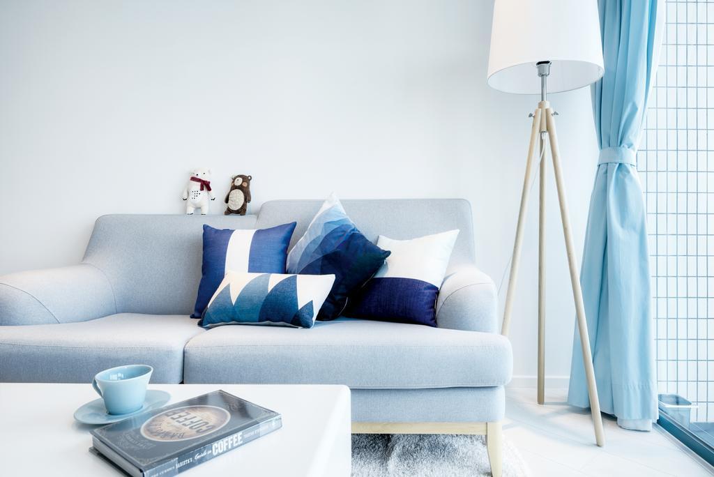 摩登, 私家樓, 客廳, 浪澄灣, 室內設計師, Art Deco Design, 北歐, Couch, Furniture