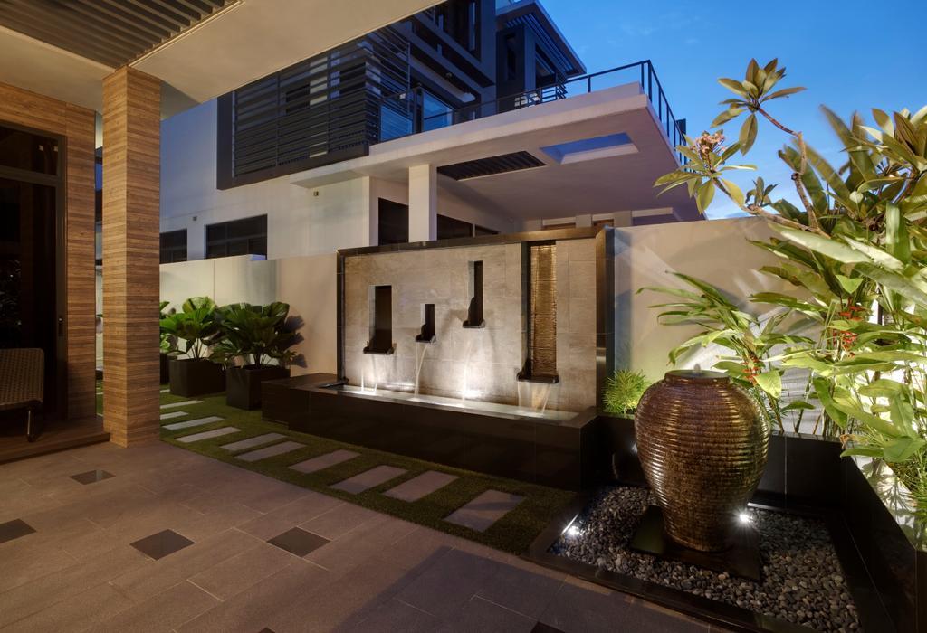 Modern, Landed, Luxus Hill, Interior Designer, The Orange Cube, Flora, Jar, Plant, Potted Plant, Pottery, Vase, Building, House, Housing, Villa