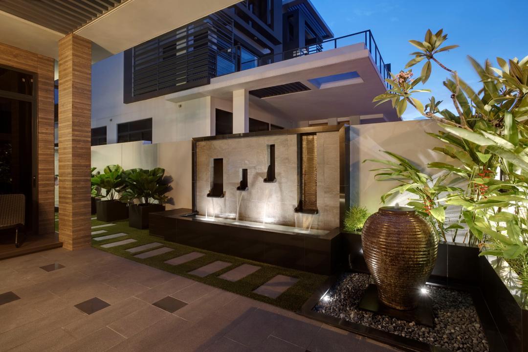 Luxus Hill, The Orange Cube, Modern, Landed, Flora, Jar, Plant, Potted Plant, Pottery, Vase, Building, House, Housing, Villa