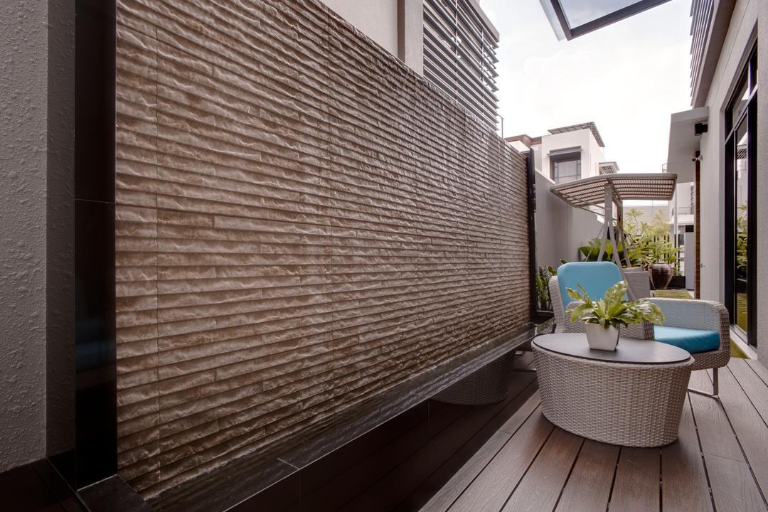 Luxus Hill, The Orange Cube, Modern, Balcony, Landed, Building, House, Housing, Villa, Flora, Jar, Plant, Potted Plant, Pottery, Vase, Brick, Patio