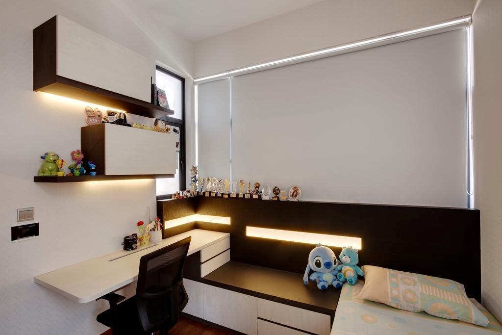 Modern, Landed, Bedroom, Luxus Hill, Interior Designer, The Orange Cube, Indoors, Interior Design, Shelf