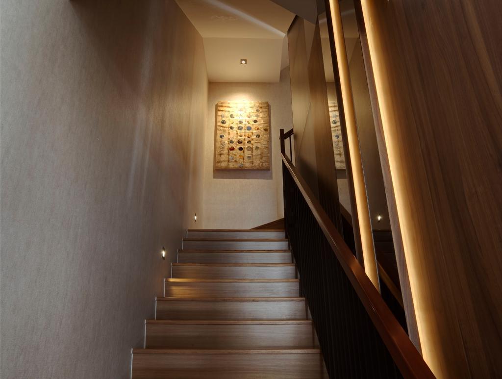 Modern, Landed, Luxus Hill, Interior Designer, The Orange Cube, Corridor
