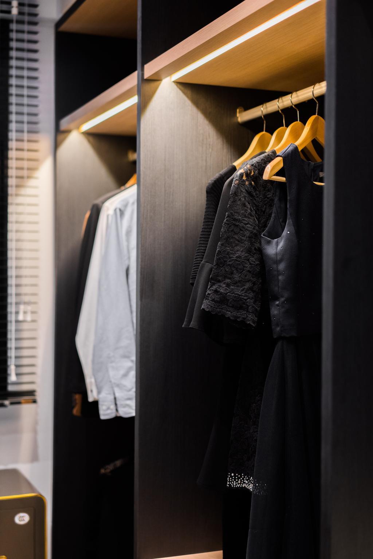 Modern, Condo, Bedroom, River Isles, Interior Designer, Happe Design Atelier, Clothing, Coat, Overcoat, Suit