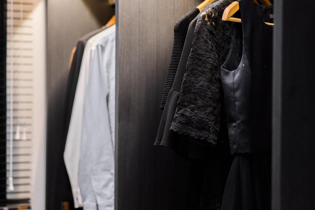 River Isles, Happe Design Atelier, Modern, Bedroom, Condo, Clothing, Coat, Overcoat, Suit