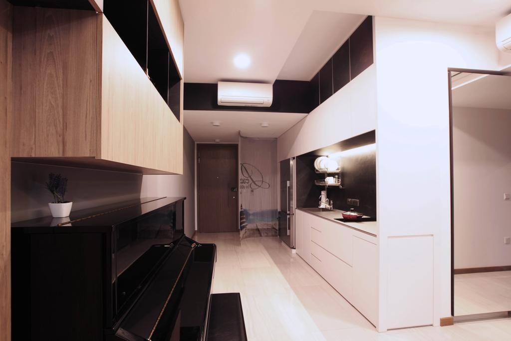 Modern, Condo, Kitchen, Lakeville, Interior Designer, Intrigue-d Design Consultancy, Lighting