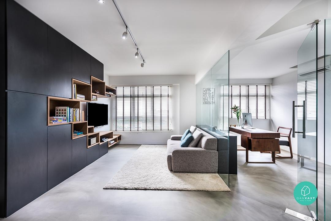 10 Open Concept Designs For Your Future Flexi HDB Flat | Qanvast