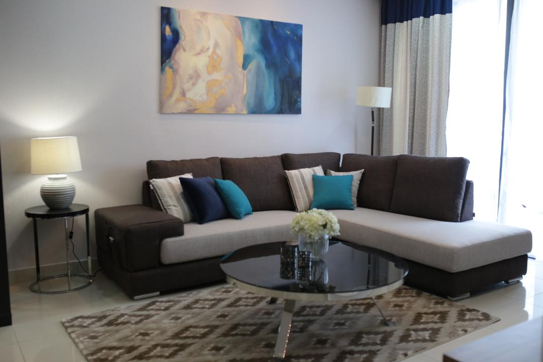 YOU Vista, Cheras, Anith Design Studio, Contemporary, Industrial, Condo, Bar Stool, Furniture, Art, Painting, Couch, Indoors, Interior Design