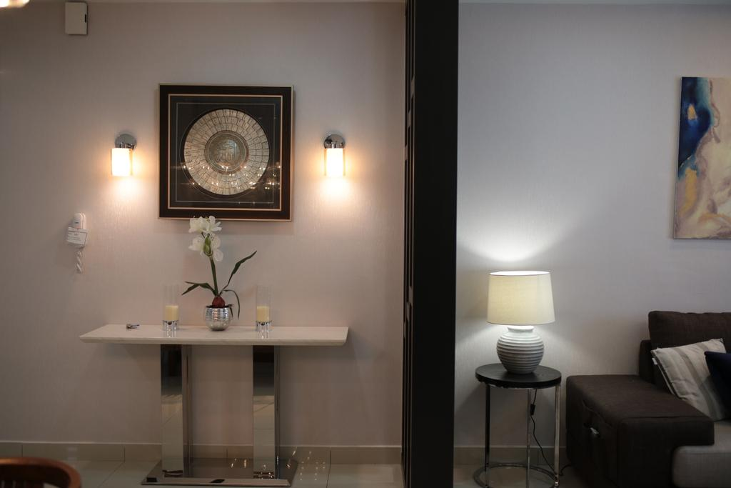 Contemporary, Condo, Living Room, YOU Vista, Cheras, Interior Designer, Anith Design Studio, Industrial, Couch, Furniture, Flora, Jar, Plant, Potted Plant, Pottery, Vase, Bar Stool, Dining Room, Indoors, Interior Design, Room, Chair, Lamp, Table Lamp