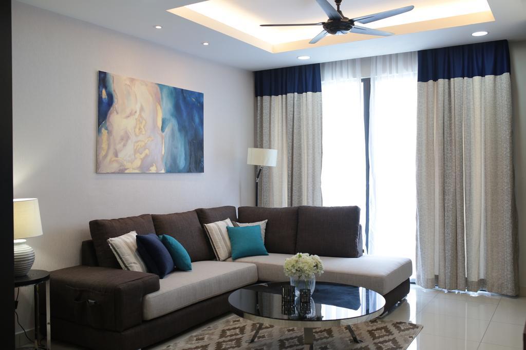 Contemporary, Condo, YOU Vista, Cheras, Interior Designer, Anith Design Studio, Industrial, Art, Painting, Indoors, Room, Lamp, Table Lamp, Couch, Furniture