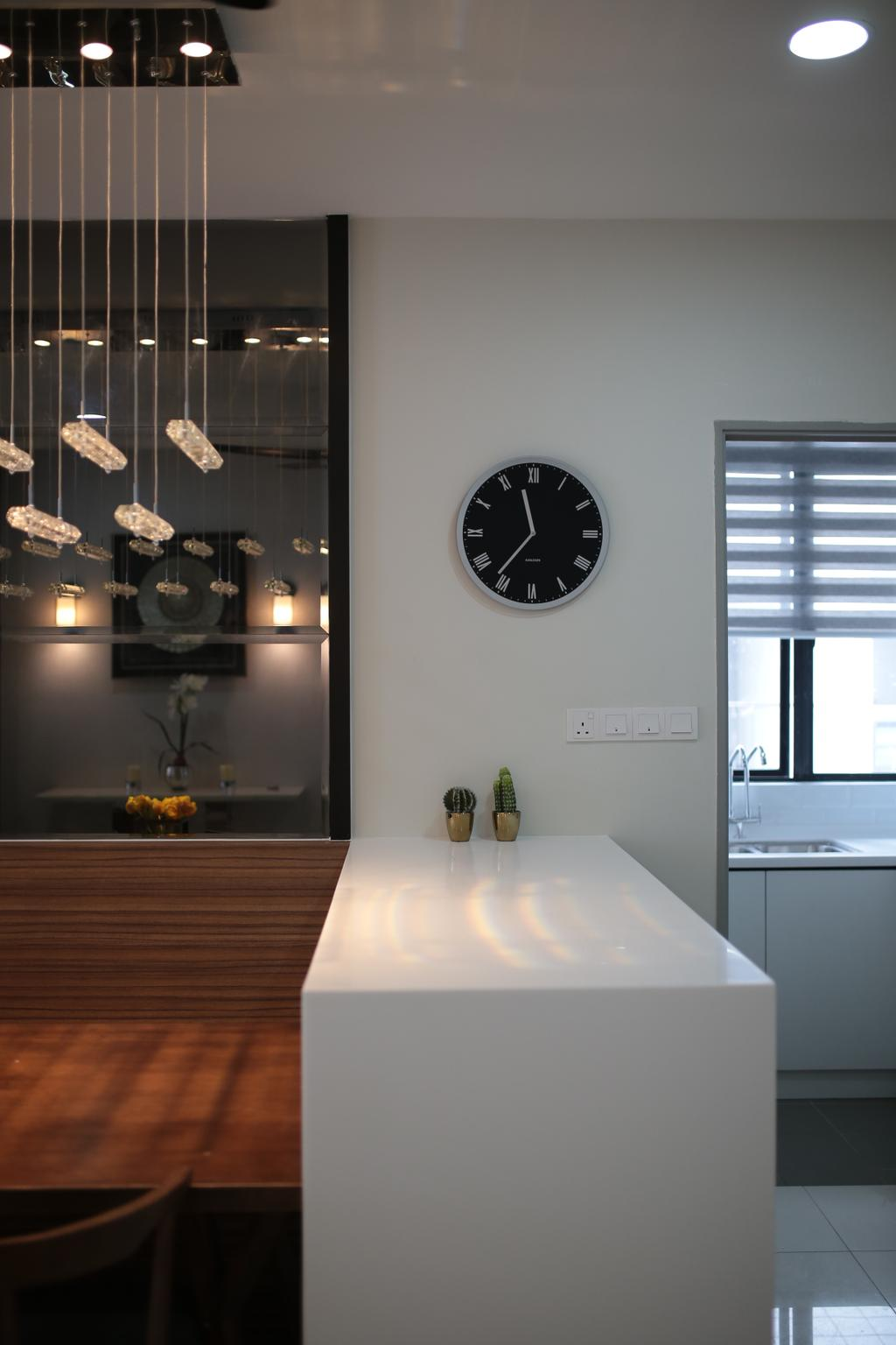 Contemporary, Condo, YOU Vista, Cheras, Interior Designer, Anith Design Studio, Industrial, Dining Room, Indoors, Interior Design, Room, Clock, Wall Clock