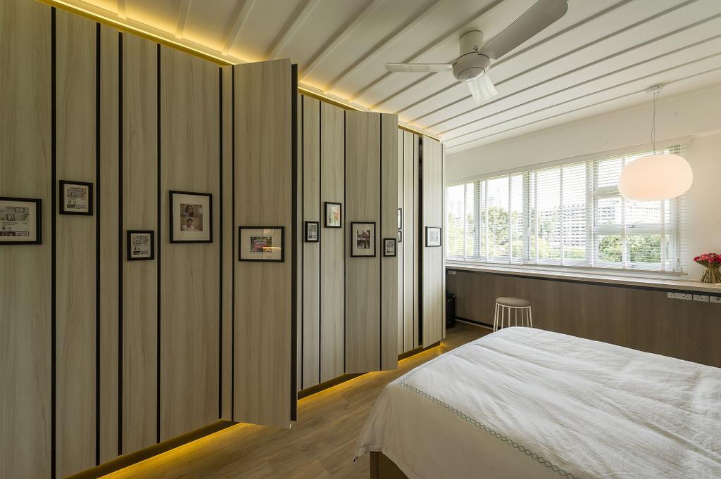 Scandinavian, HDB, Jalan Tenteram (Block 117B), Interior Designer, ELPIS Interior Design, Bed, Furniture, Indoors, Interior Design