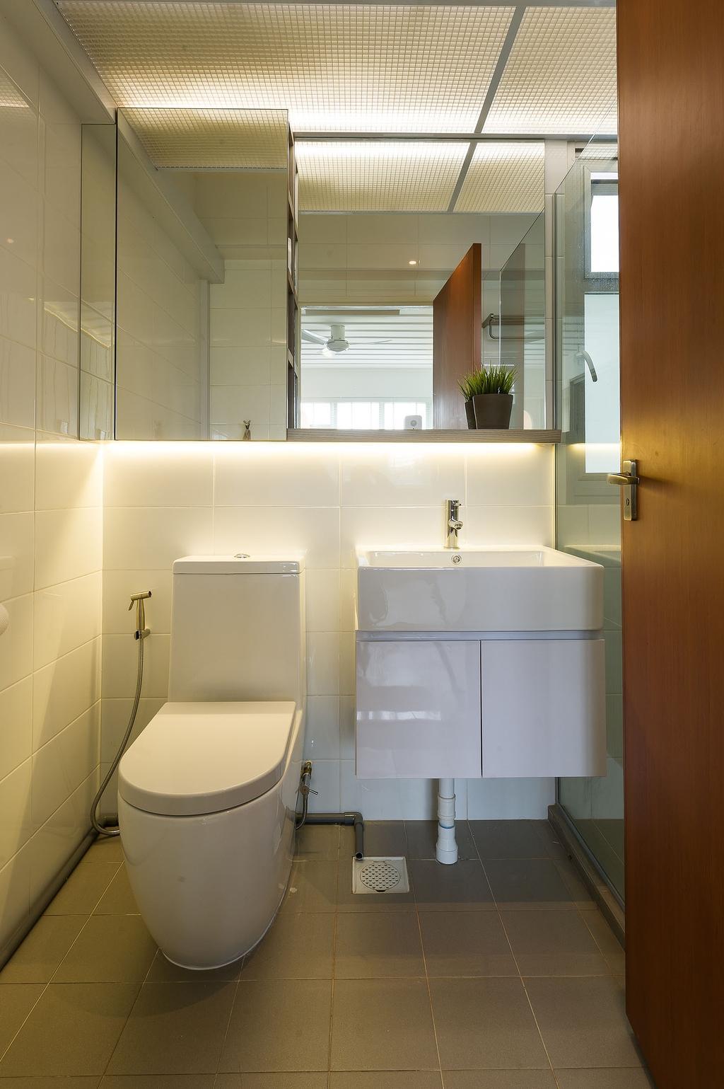 Scandinavian, HDB, Jalan Tenteram (Block 117B), Interior Designer, ELPIS Interior Design, Bathroom, Indoors, Interior Design, Room