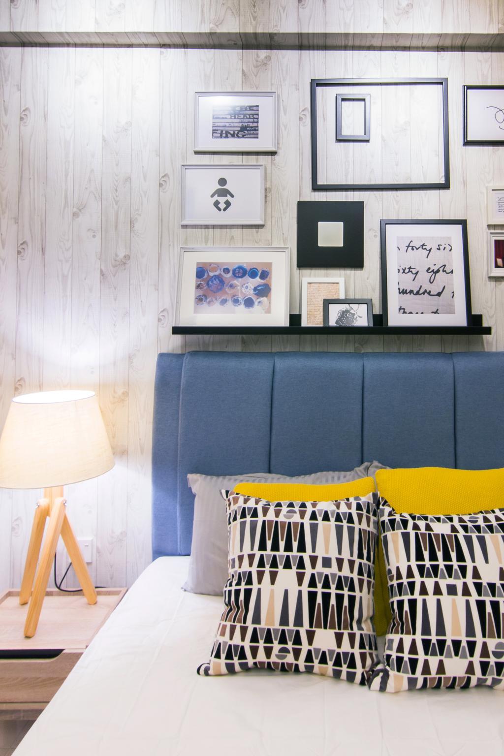 Scandinavian, Condo, Emerald Perdana, Interior Designer, Roomia, Indoors, Nursery, Room, Lamp, Lampshade