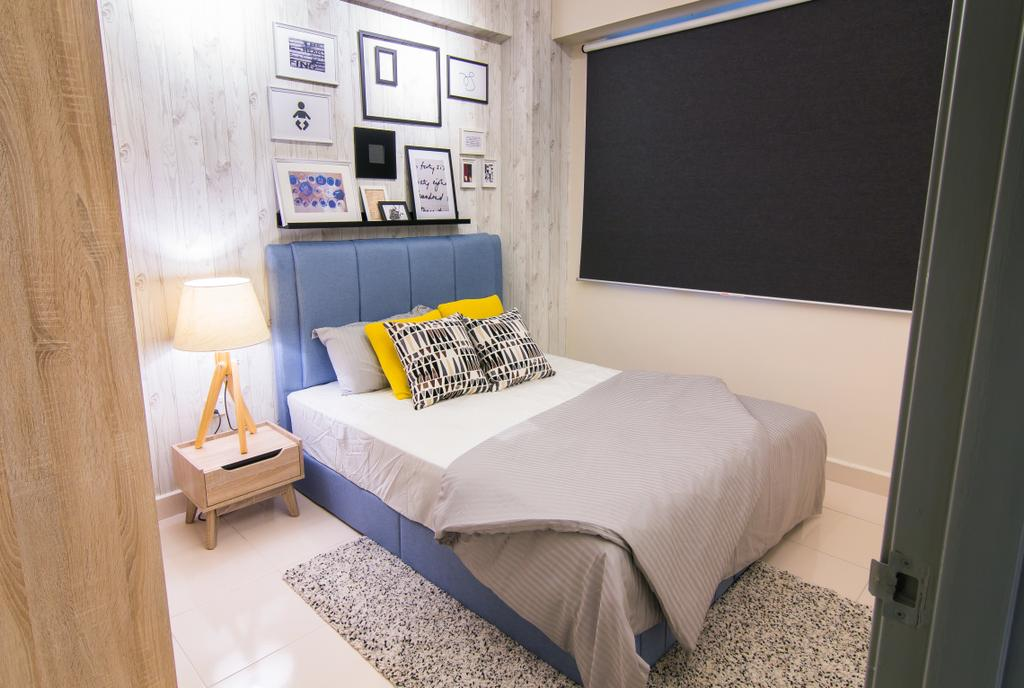 Scandinavian, Condo, Emerald Perdana, Interior Designer, Roomia, Bed, Furniture