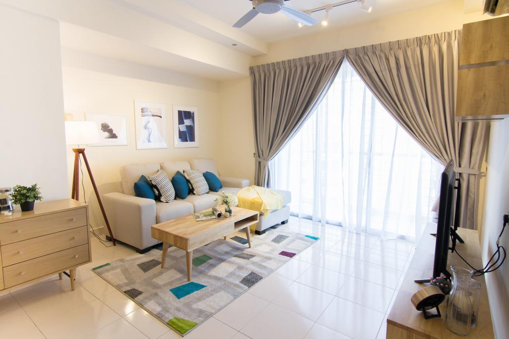 Scandinavian, Condo, Emerald Perdana, Interior Designer, Roomia, Couch, Furniture, Indoors, Interior Design, Living Room, Room