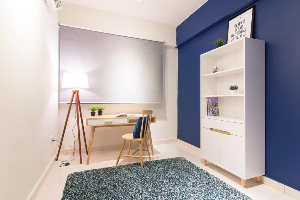 Scandinavian, Condo, Emerald Perdana, Interior Designer, Roomia, Tripod, Chair, Furniture