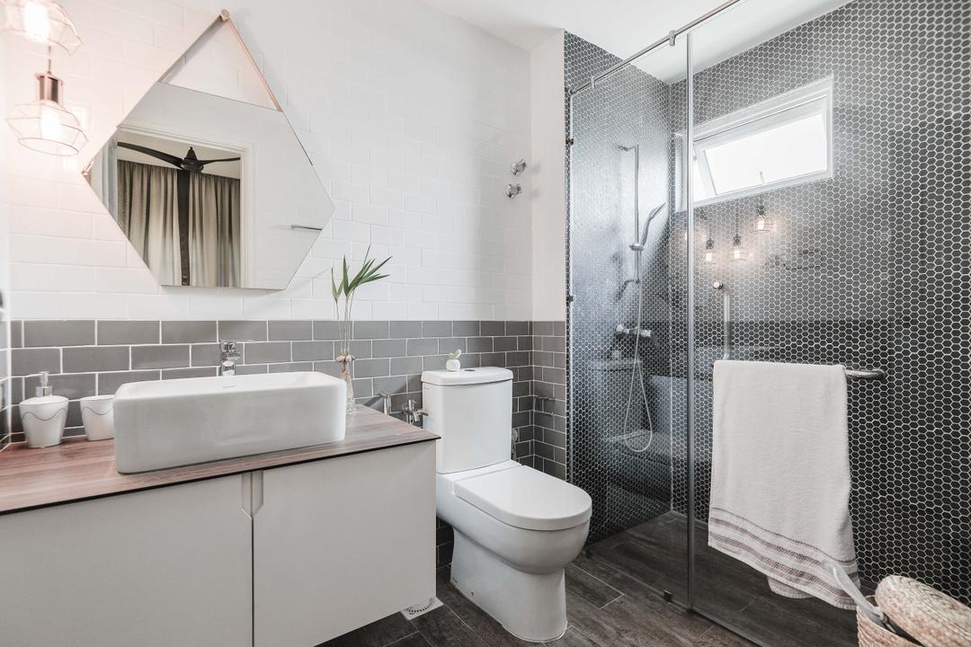 Li Villas, Dot Works, Minimalistic, Modern, Condo, Toilet, Bathroom, Indoors, Interior Design, Room, Bathtub, Tub