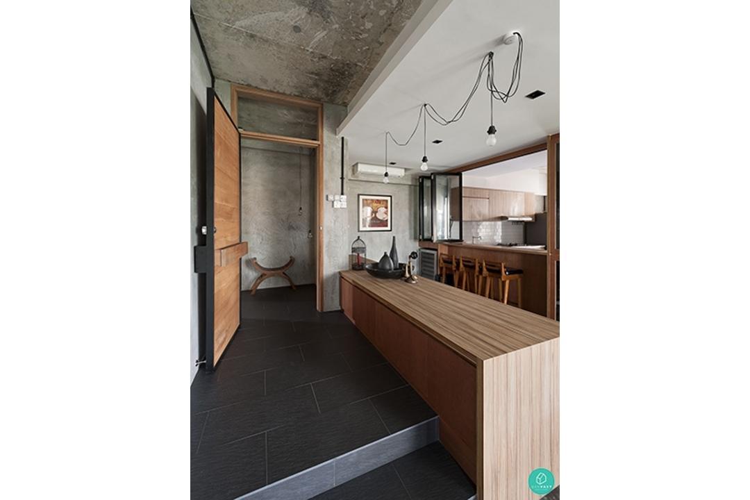Threedconceptwerke-woomonchew-Industrial-Kitchen-Hallway
