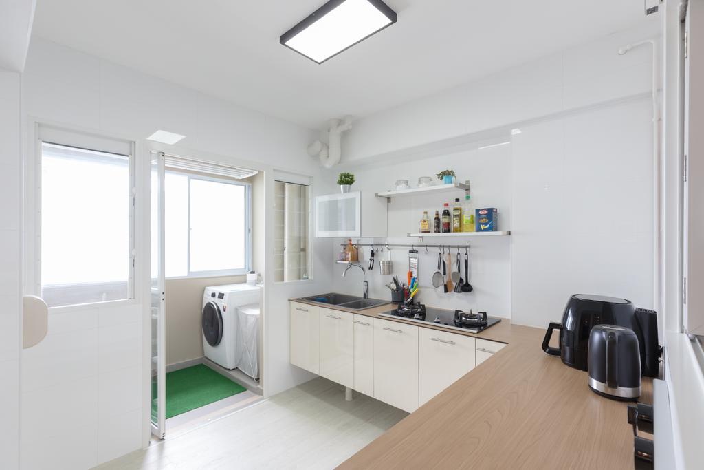 Scandinavian, HDB, Kitchen, Whampoa Dew, Interior Designer, D Initial Concept