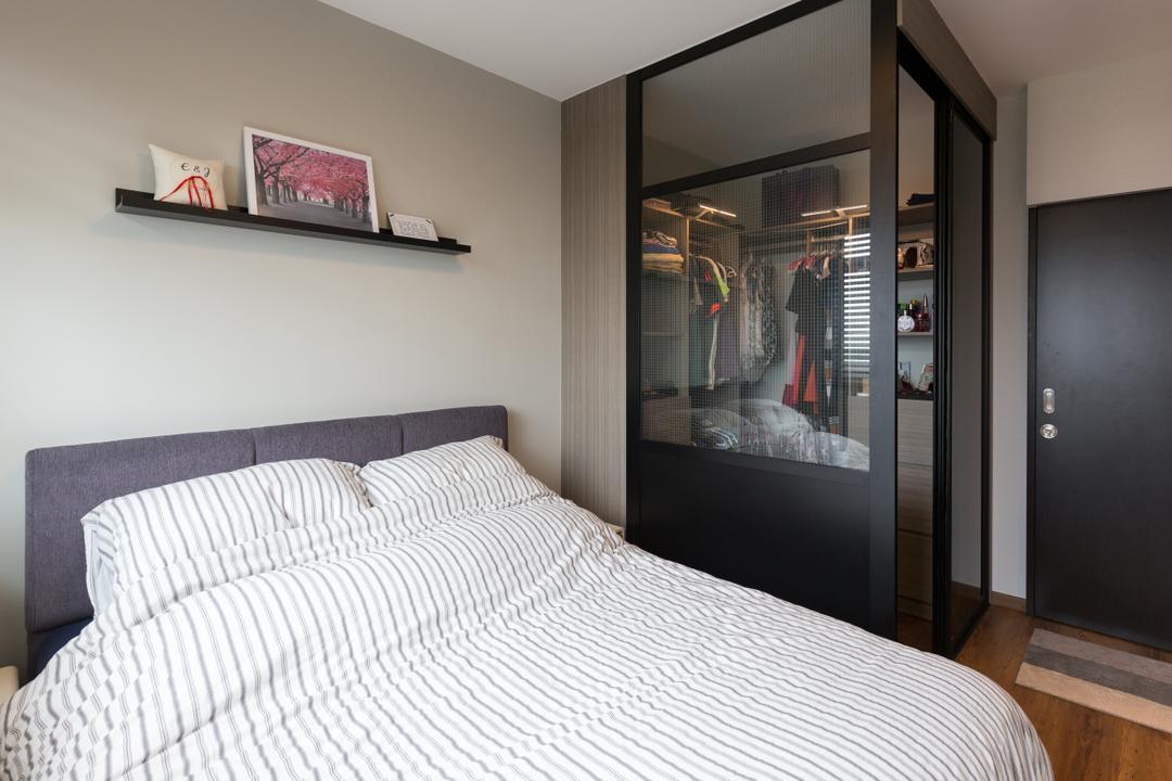 Whampoa Dew, D Initial Concept, Scandinavian, Bedroom, HDB, Indoors, Interior Design, Room, Bed, Furniture, Shop, Window Display