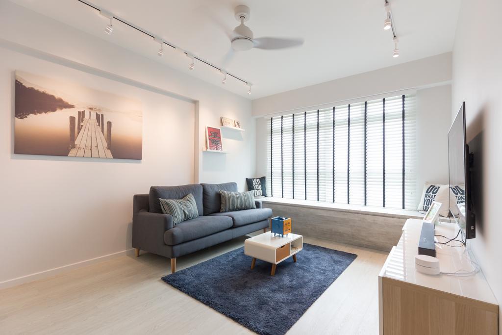 Scandinavian, HDB, Living Room, Whampoa Dew, Interior Designer, D Initial Concept, Indoors, Interior Design, Couch, Furniture