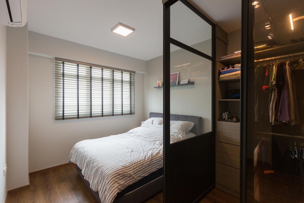 Scandinavian, HDB, Bedroom, Whampoa Dew, Interior Designer, D Initial Concept, Bed, Furniture