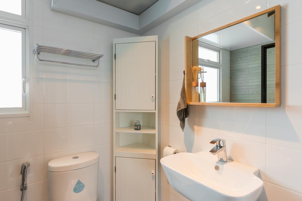 Scandinavian, HDB, Bathroom, Whampoa Dew, Interior Designer, D Initial Concept, Indoors, Interior Design, Room