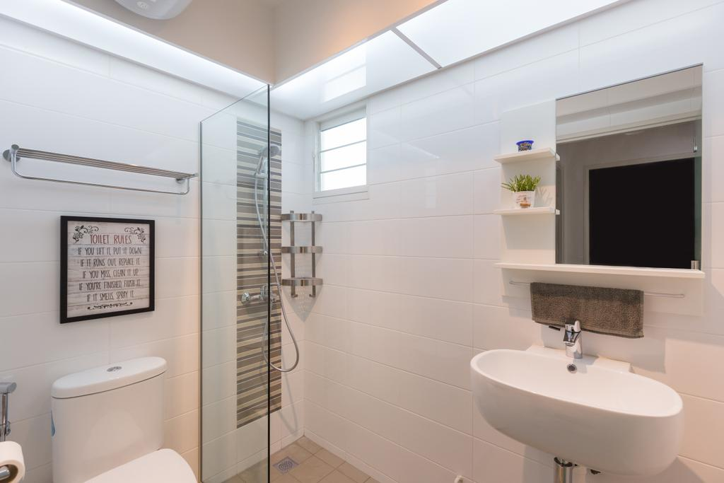 Scandinavian, HDB, Whampoa Dew, Interior Designer, D Initial Concept, Bathroom, Indoors, Interior Design, Room