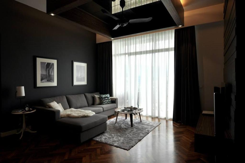Modern, Condo, Living Room, Quayside Condominium Type A, Interior Designer, Grazioso Design, Dining Table, Furniture, Table, Indoors, Room
