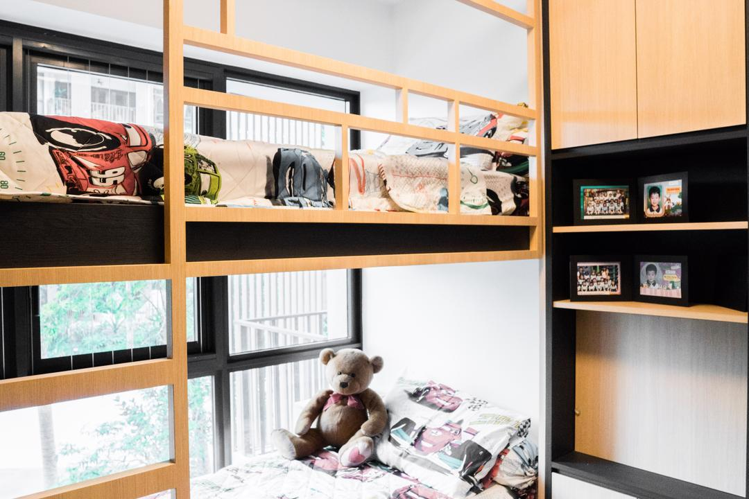 River Isles, Happe Design Atelier, Modern, Bedroom, Condo, Teddy Bear, Toy, Collage, Human, People, Person, Poster, Window, Crib, Furniture