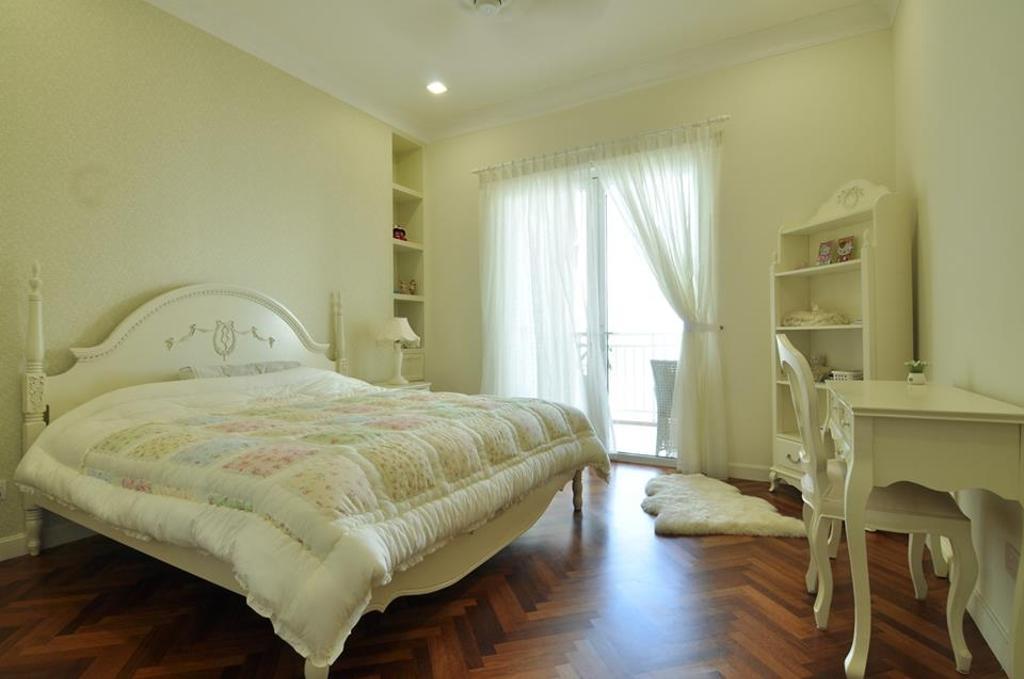 Contemporary, Condo, Bedroom, Quayside Condominium Type B, Interior Designer, Grazioso Design, Indoors, Interior Design, Room, Bed, Furniture