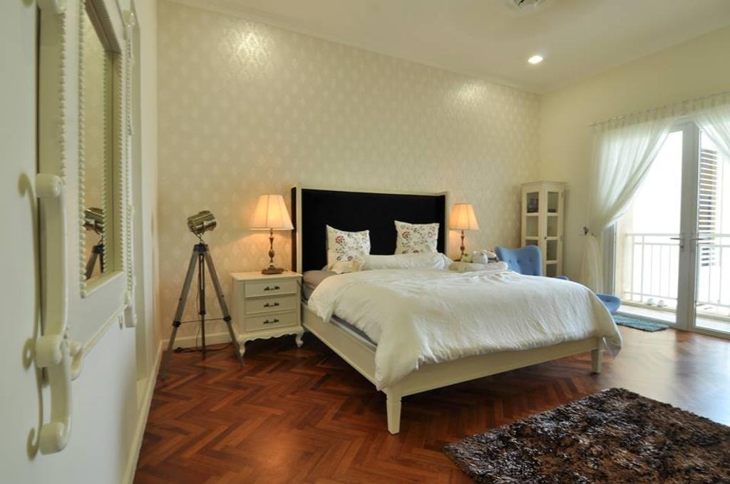 Contemporary, Condo, Bedroom, Quayside Condominium Type B, Interior Designer, Grazioso Design, Tripod, Indoors, Interior Design, Room