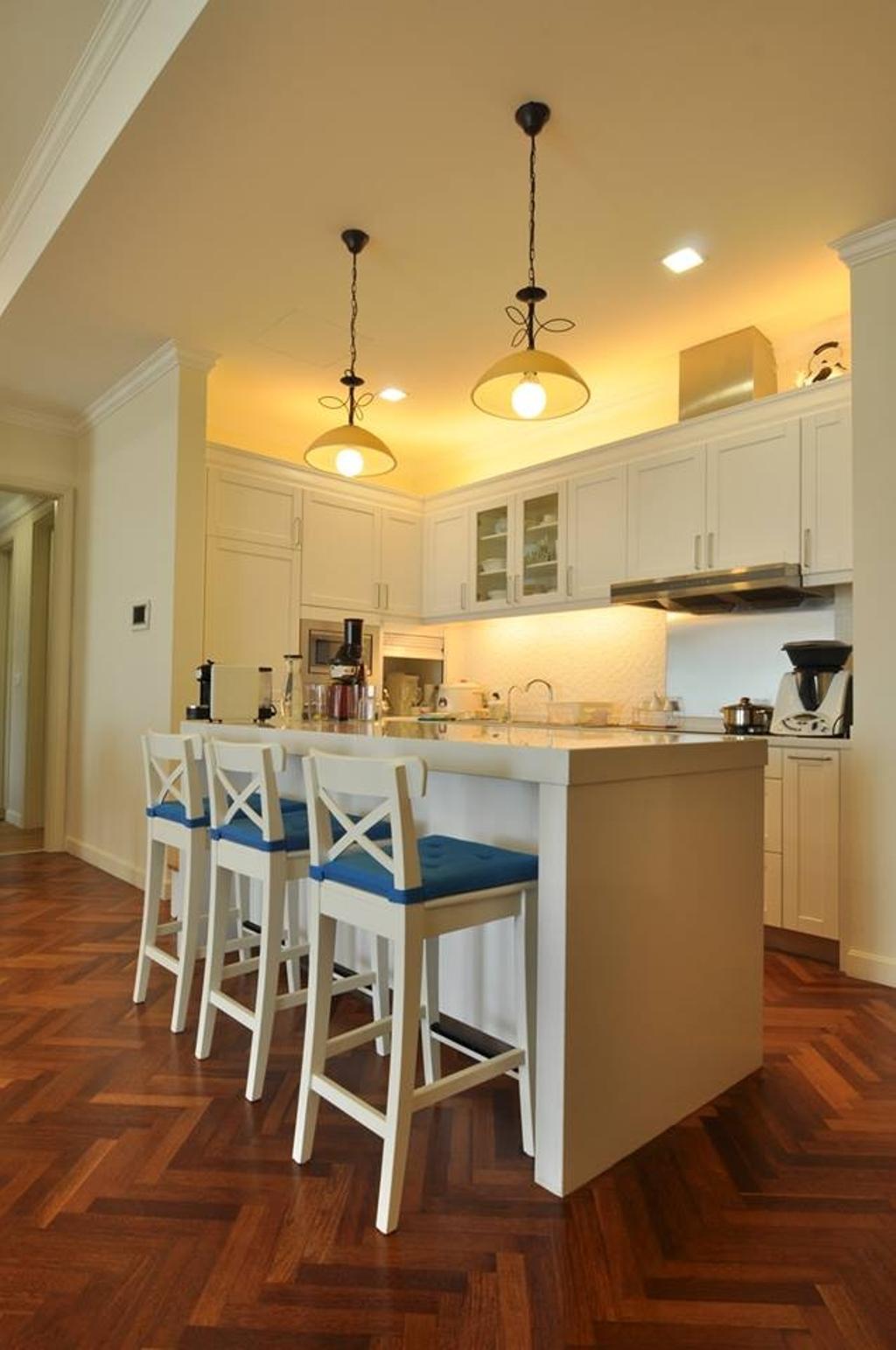 Contemporary, Condo, Kitchen, Quayside Condominium Type B, Interior Designer, Grazioso Design, Chair, Furniture, Dining Table, Table, Sink