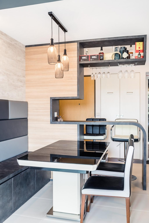 Contemporary, HDB, Dining Room, Skyville @ Dawson, Interior Designer, Colourbox Interior, Chair, Furniture, Wallet, Electronics, Entertainment Center